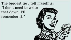 Writing lies